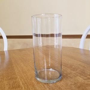 Other - Clear Glass Cylinder Vase